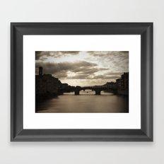 The Arno river  Framed Art Print