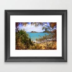 Idyllic Coastal View Framed Art Print