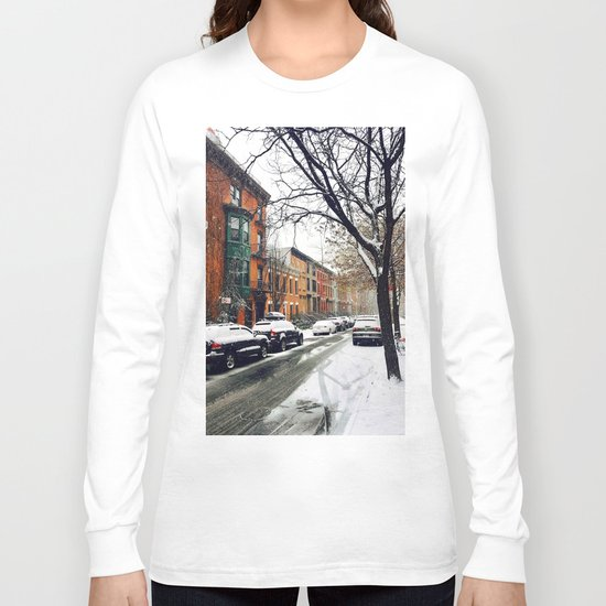 Brooklyn New York City Snow Showers Long Sleeve T-shirt