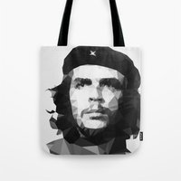 che Tote Bags featuring Che by Poly Iconik Art
