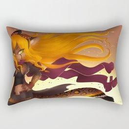 Shiny Hair Rectangular Pillow