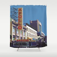 apollo Shower Curtains featuring The Apollo by designed to a T