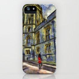 Windsor Castle Coldstream Guard Art iPhone Case
