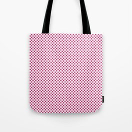 Pink Yarrow Polka Dots Tote Bag