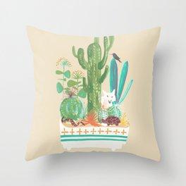 Desert planter Throw Pillow