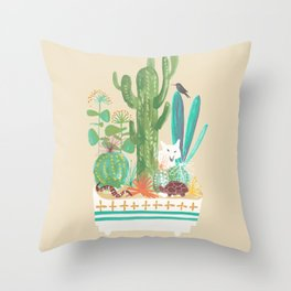Desert planter Throw Pillow