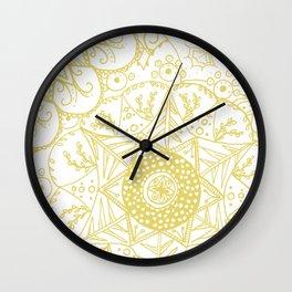 Beth Mandala Mustard Wall Clock