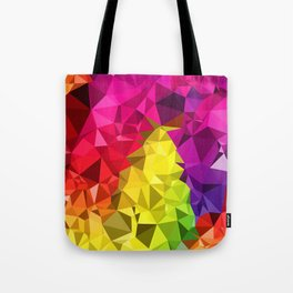 Rainbow Poly Low Tote Bag