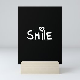 Smile Black Mini Art Print