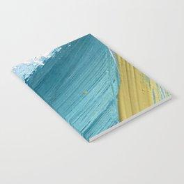 Paradise: a vibrant, minimal, abstract mixed media piece Notebook