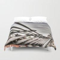 millenium falcon Duvet Covers featuring The Millenium Bridge by David Pyatt