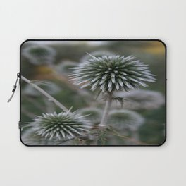 Macro Seed Head of Round Headed Garlic  Laptop Sleeve