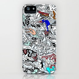 Retro Kamasutra LOVE Doodle  iPhone Case