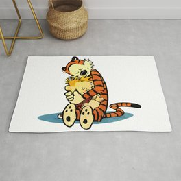Calvin Hugs Hobbes Rug