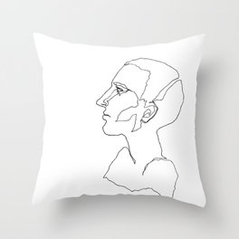 One line One Throw Pillow