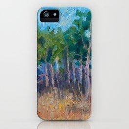Pine Grove - Original Impressionism Landscape Oil Painting iPhone Case