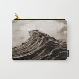 The WAVE - sepia Carry-All Pouch