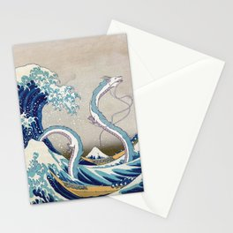Haku and the Great Wave Stationery Cards