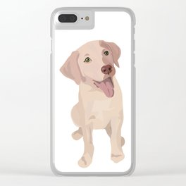 Golden (Lab) Girl Clear iPhone Case