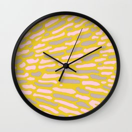 Organic Abstract Yellow Lime Wall Clock