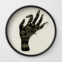 occult Wall Clocks featuring Palmistry by Cat Coquillette