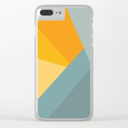 Abstract Mountain Sunrise Clear iPhone Case