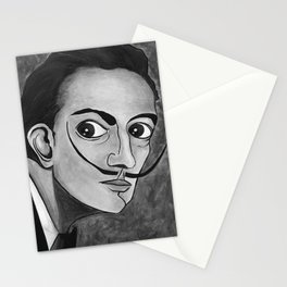 Salvador Dalí black and white portrait Stationery Cards