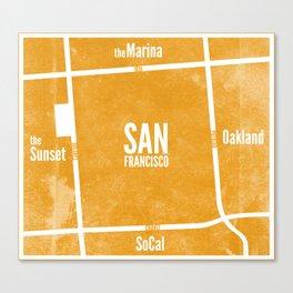 This is SF (Orange) Canvas Print
