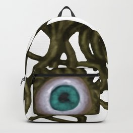 Evil Eye Halloween Creature Vector Gold Backpack