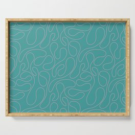 Abstract Geometrical Rosewater Pink Mint Blue Pattern Serving Tray