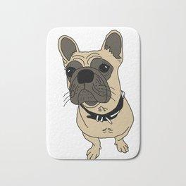 Sheba the bulldog Bath Mat