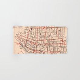 Vintage Map of Charleston South Carolina (1890) Hand & Bath Towel