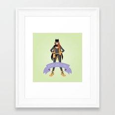 Fight Like a Girl: Batgirl Framed Art Print