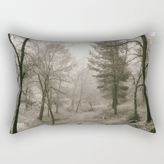 """""""Into the woods IV"""". Foggy forest Rectangular Pillow"""