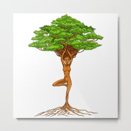 Tree Of Life Zen Yoga Metal Print