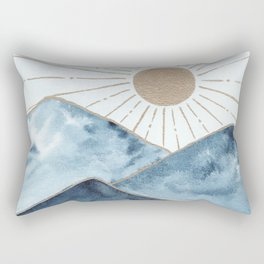Indigo & gold landscape 1 Rectangular Pillow