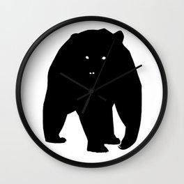 Bear Black Silhouette Pet Animal Cool Style Wall Clock