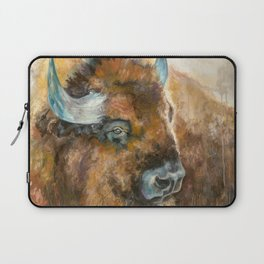 Bison Oil Painting Laptop Sleeve