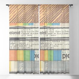 VHS & Wooden Wall Sheer Curtain