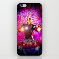 ironman iPhone & iPod Skins featuring Ironman by JT Digital Art