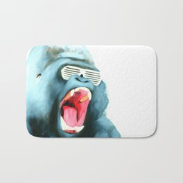 Gorilla with Shutter Shades Bath Mat