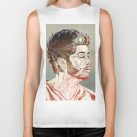 zayn Biker Tanks featuring Geometric Zayn by Peek At My Dreams