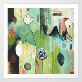 """""""Fly Home"""" Original Painting by Flora Bowley Art Print"""