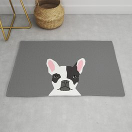 Parker - French Bulldog animal art modern colors for dog people Rug