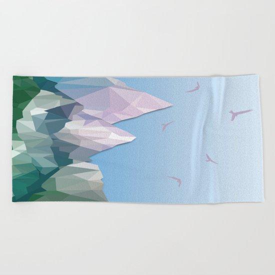 Night Mountains No. 35 Beach Towel