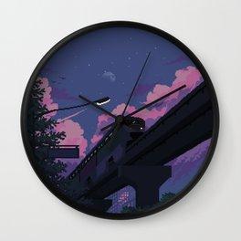 Moonrise twilight Wall Clock