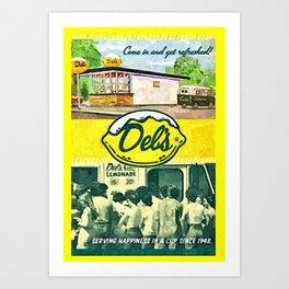 Vintage Del's Lemonade Rhode Island Vintage Advertising Poster Art Print