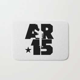 AR-15 (Silver/Black) Bath Mat