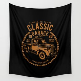 classic garage Wall Tapestry