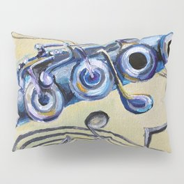 Flute Blues Pillow Sham